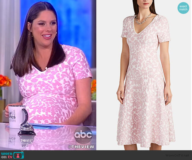 Abstract-Pattern Jacquard Compact Knit Dress by Zac Posen worn by Abby Huntsman  on The View