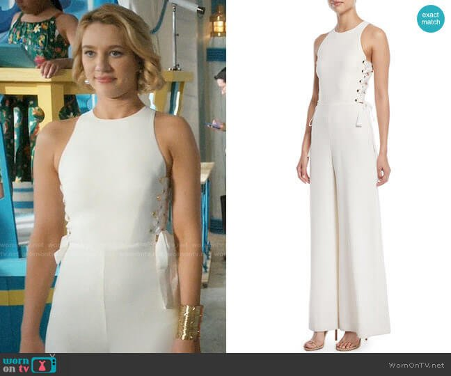 Zimmermann Laced In Wide-Leg Jumpsuit worn by Petra Solano (Yael Grobglas) on Jane the Virgin