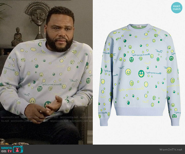 Acne Studios Kiran Jumper worn by Andre Johnson (Anthony Anderson) on Blackish