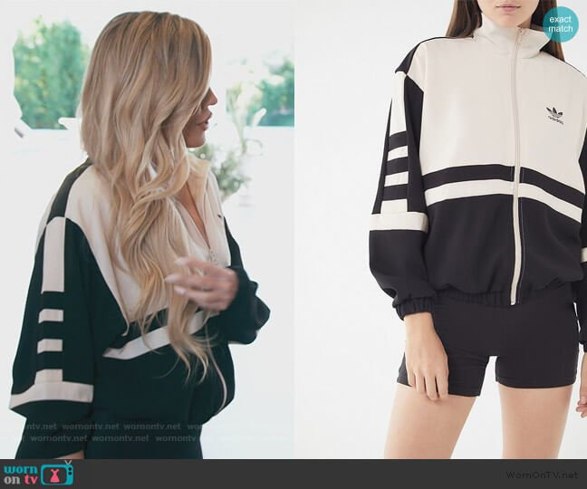 Colorblock Track Jacket by Adidas worn by Khloe Kardashian  on Keeping Up with the Kardashians