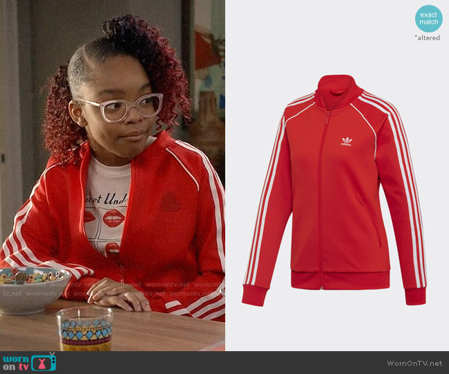 Adidas V-day SST Track Jacket worn by Diane Johnson (Marsai Martin) on Blackish