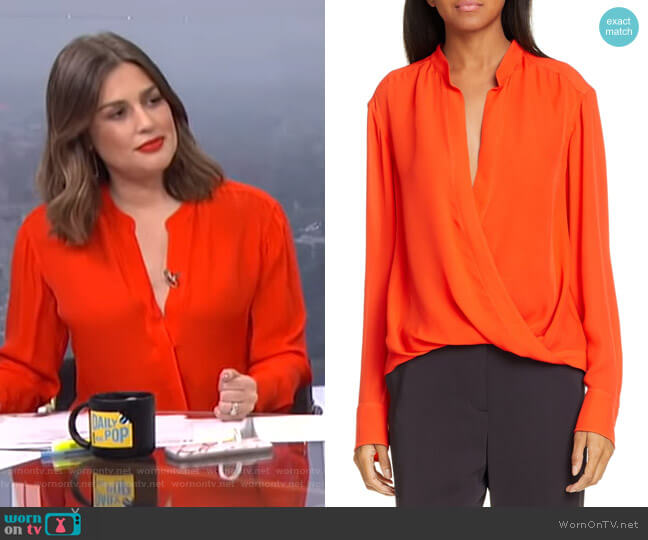 Luca Top by A.L.C. worn by Carissa Loethen Culiner  on E! News