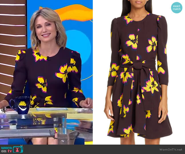 Stella Dress by A.L.C. worn by Amy Robach  on Good Morning America