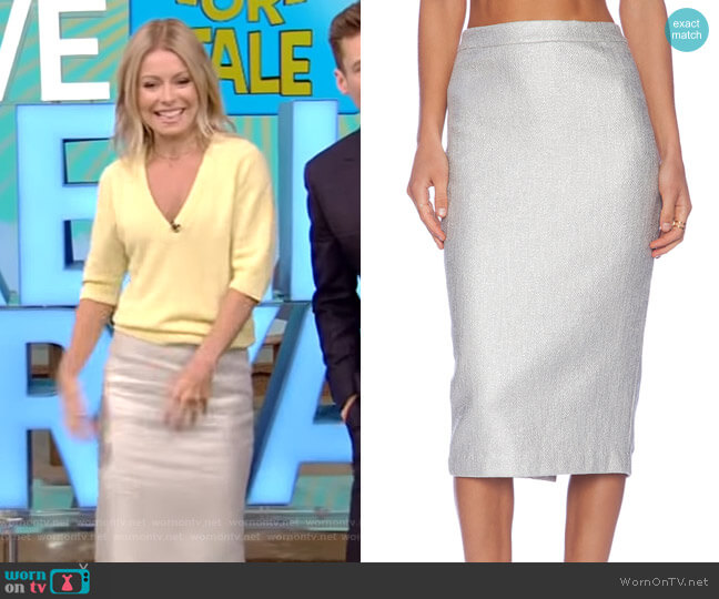 Hill Skirt by A.L.C. worn by Kelly Ripa  on Live with Kelly & Ryan