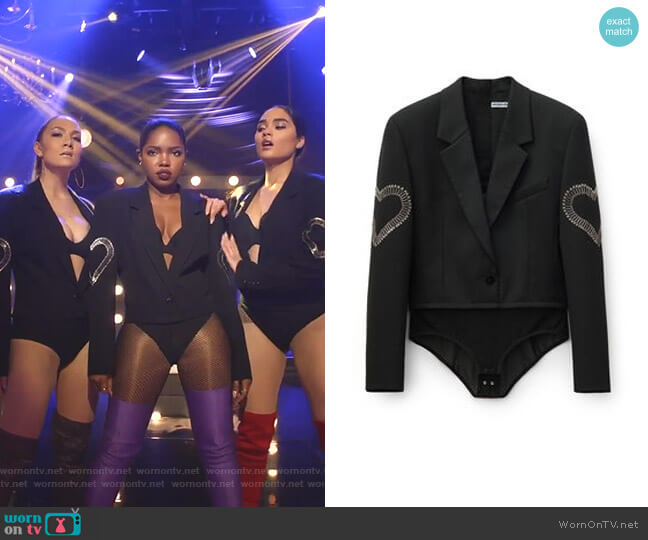 Blazer Bodysuit by Alexander Wang worn by Star Davis (Jude Demorest) on Star