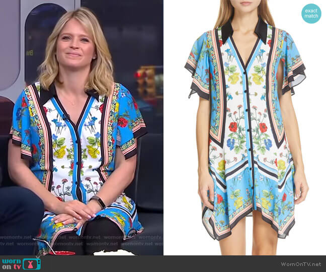 Conner Dress by Alice + Olivia worn by Sara Haines  on Good Morning America
