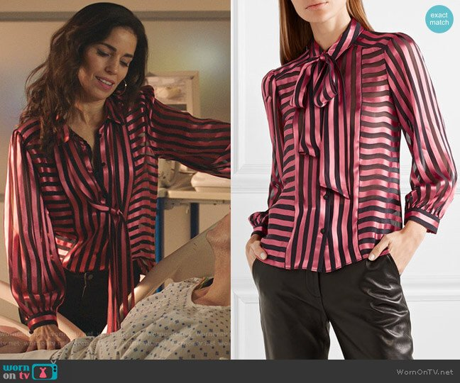 Willis Blouse by Alice + Olivia worn by Susan Sampson (Ana Ortiz) on Whiskey Cavalier