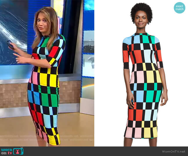Delora Dress by Alice + Olivia worn by Ginger Zee  on Good Morning America