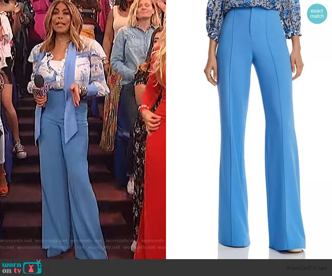 Dylan High-Rise Wide-Leg Pants by Alice + Olivia worn by Wendy Williams  on The Wendy Williams Show