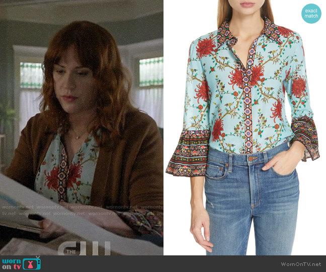 Alice + Olivia Rana Blouse worn by Mary Andrews (Molly Ringwald) on Riverdale