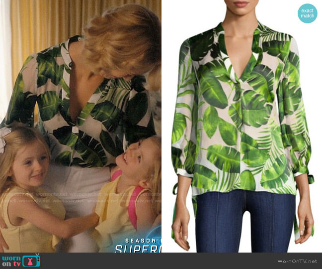Alice + Olivia Sheila Blouse worn by Petra Solano (Yael Grobglas) on Jane the Virgin