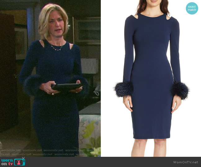 Alice + Olivia Tabitha Dress worn by Eve Donovan (Kassie DePaiva) on Days of our Lives