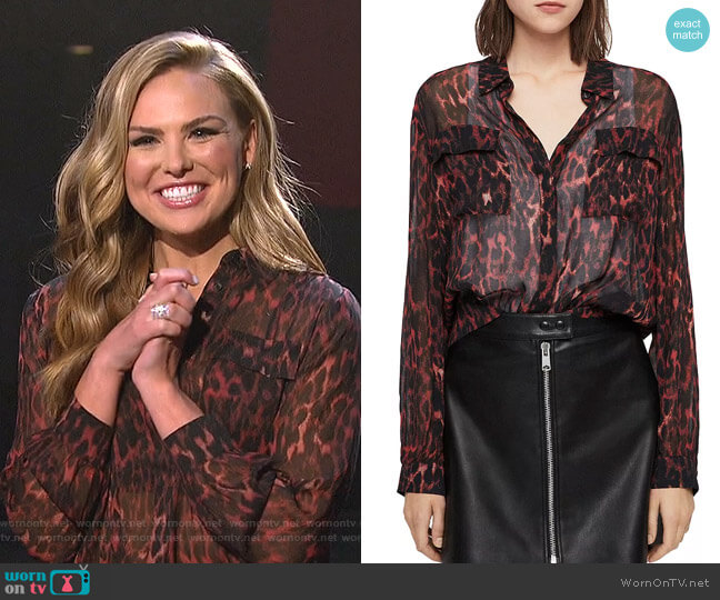 Adeliza Blouse by All Saints worn by Hannah Brown  on The Bachelorette