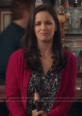 Amy's floral top on Brooklyn Nine-Nine