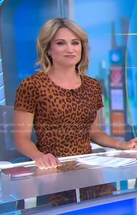 Amy's leopard print dress on Good Morning America