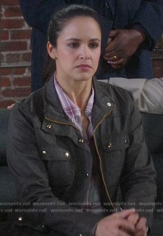 Amy's green jacket on Brooklyn Nine-Nine