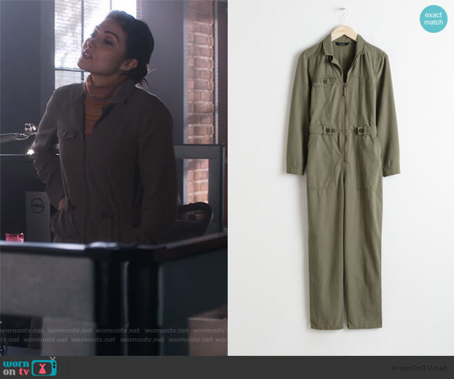 Utility Workwear Boilersuit by & Other Stories worn by Cassidy Barrett (Daniella Pineda) on What/If