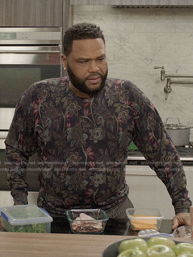 Andre's black floral sweater on Black-ish