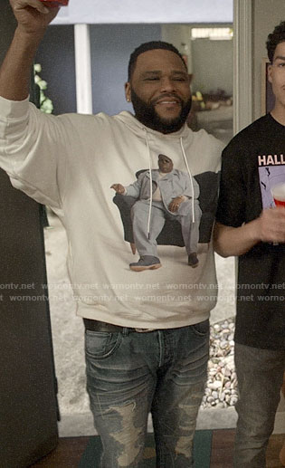 Andre's Notorious B.I.G. hoodie on Black-ish