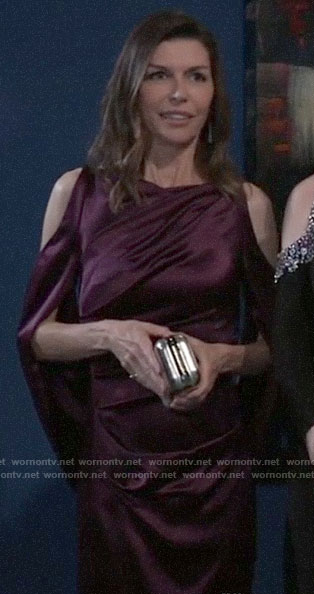 Anna's purple Nurse's Ball gown on General Hospital