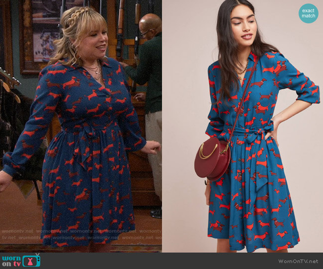 Anthropologie Colloquial Long-Sleeved Shirtdress worn by Kristin Baxter (Amanda Fuller) on Last Man Standing