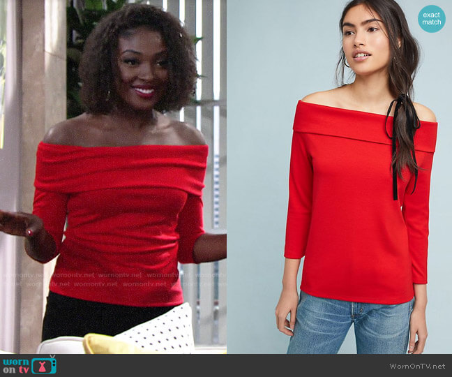 Anthropologie Rosiers Top worn by Ana Hamilton (Loren Lott) on The Young & the Restless