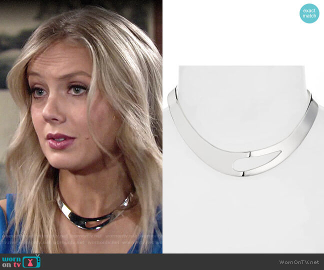 Argento Vivo Cutout Collar Necklace worn by Abby Newman (Melissa Ordway) on The Young & the Restless