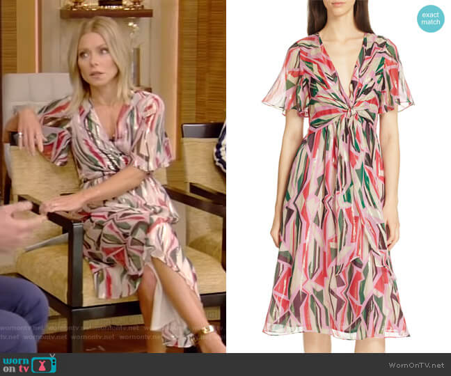 Beryl Dress by Ba&Sh worn by Kelly Ripa (Kelly Ripa) on Live with Kelly & Ryan