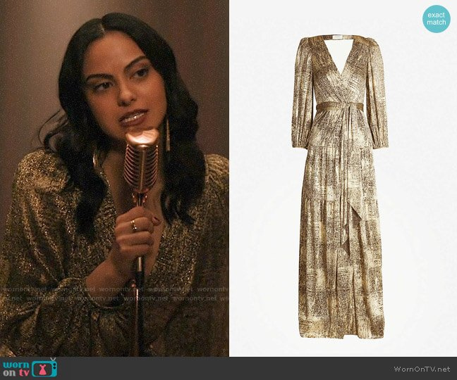ba&sh Saddie Dress worn by Veronica Lodge (Camila Mendes) on Riverdale