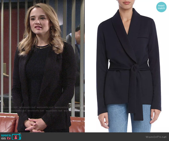 Bailey 44 J'Adore Fleece Blazer worn by Summer Newman (Hunter King) on The Young & the Restless