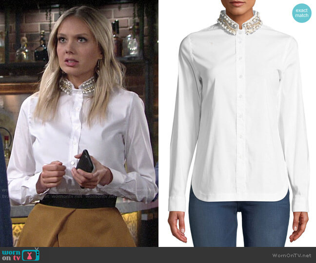 Bailey 44 Ursula Shirt worn by Abby Newman (Melissa Ordway) on The Young & the Restless