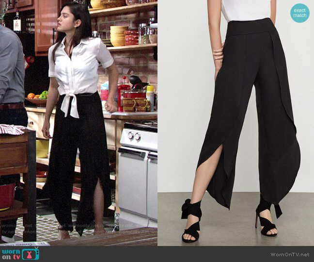 Bcbgmaxazria Asymmetrical Hem Cropped Pant worn by Lola Rosales (Sasha Calle) on The Young & the Restless