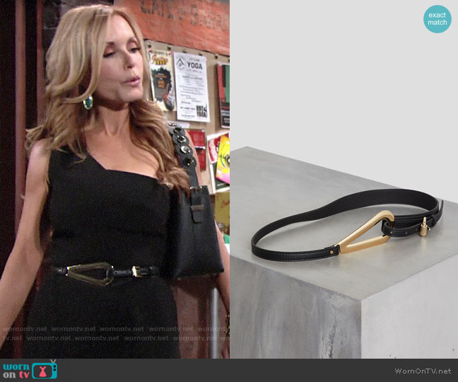 Bcbgmaxazria Faux Leather Pullback Belt worn by Lauren Fenmore (Tracey Bregman) on The Young & the Restless