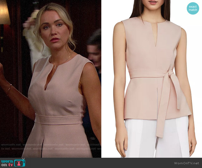 Bcbgmaxazria Joslynn Peplum Top worn by Florence (Katrina Bowden) on The Bold & the Beautiful