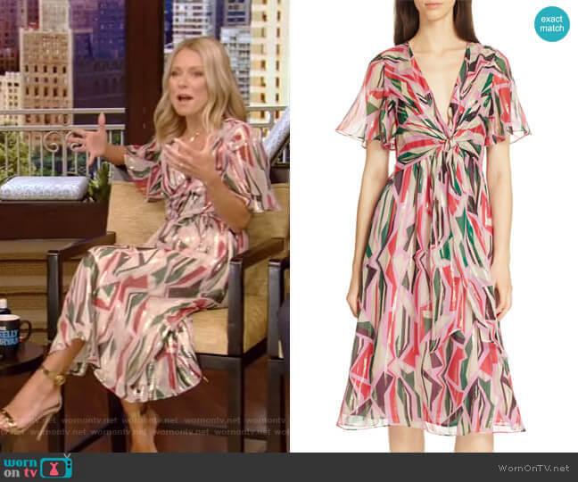 Beryl Dress by Ba&Sh worn by Kelly Ripa  on Live with Kelly & Ryan
