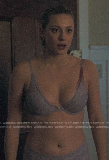 Betty's lilac floral bra on Riverdale