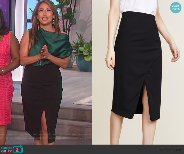 Juma Skirt by Black Halo worn by Carrie Inaba  on The Talk
