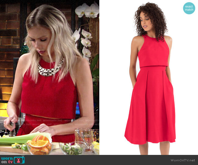 Black Halo Sanibel Two Piece Dress worn by Abby Newman (Melissa Ordway) on The Young & the Restless