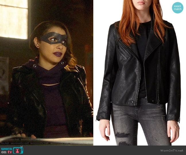 Blank NYC Leather Jacket worn by Nora West-Allen (Jessica Parker Kennedy) on The Flash