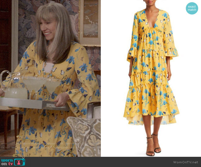 Borgo de Nor Iris Printed High-Low Dress worn by Catherine Meyer (Sarah Sutherland) on Veep