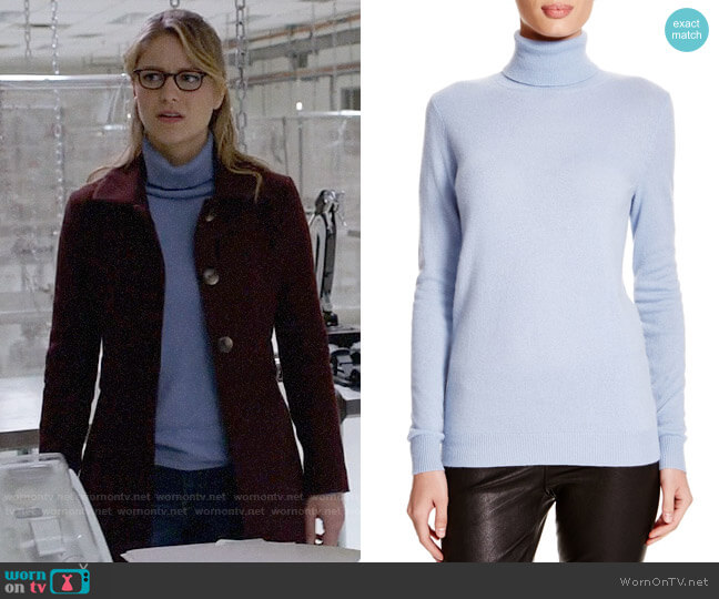 C by Bloomingdales Cashmere Turtleneck Sweater worn by Kara Danvers (Melissa Benoist) on Supergirl