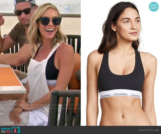 Calvin Klein Modern Cotton Bralette worn by Kristin Cavallari  on Very Cavallari