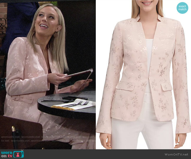 Calvin Klein Floral Jacquard Blazer worn by Abby Newman (Melissa Ordway) on The Young & the Restless