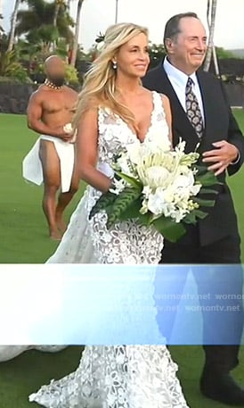Camille's wedding dress on The Real Housewives of Beverly Hills