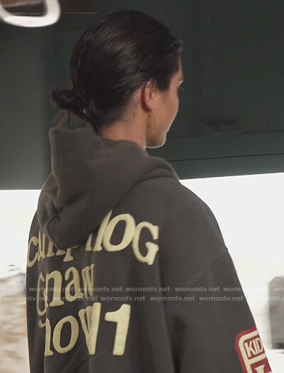 Kendall's I See Ghosts sweatshirt on Keeping Up with the Kardashians
