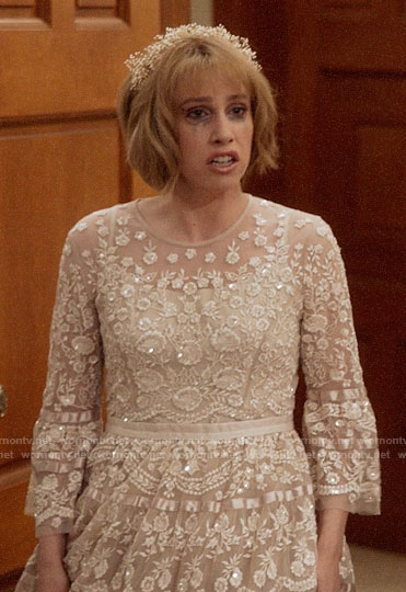 Catherine's wedding dress on Veep