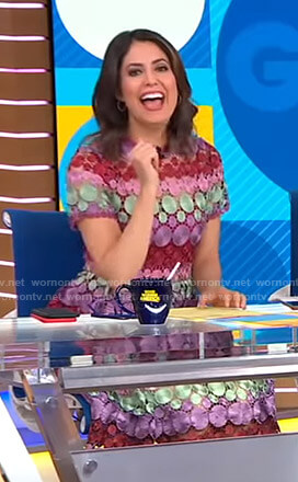 Cecilia's multicolored lace dress on Good Morning America