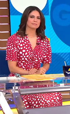 Cecilia's pink dotted dress on Good Morning America
