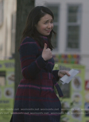 Marissa's check coat by The Good Fight on The Good Fight