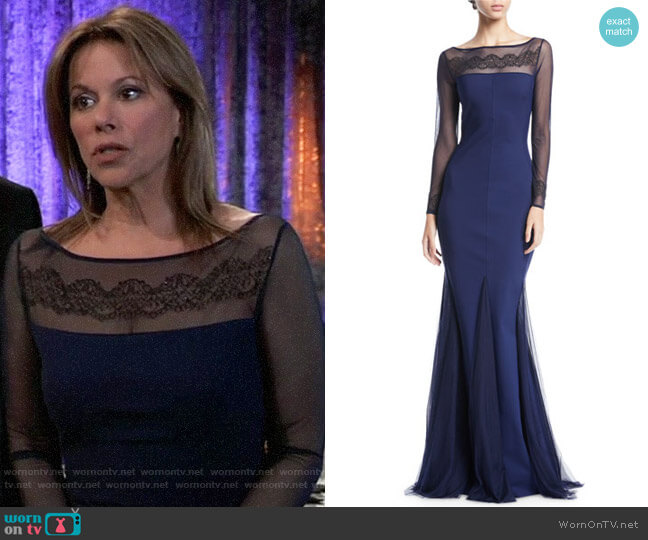 Chiara Boni La Petite Robe Neives Gown worn by Alexis Davis (Nancy Lee Grahn) on General Hospital